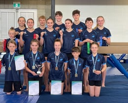 Northland Team Gathered after National Champs to receive Pins,Medals,  Ribbons and Trophies