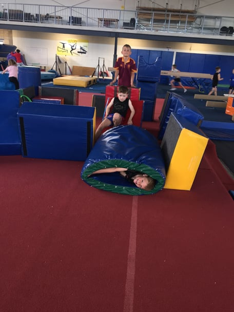 One of the activities experianced at our holiday program where they get to build a fort out of the shapes